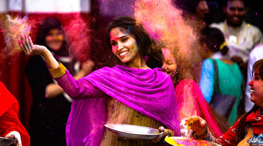 Holi holiday in India
