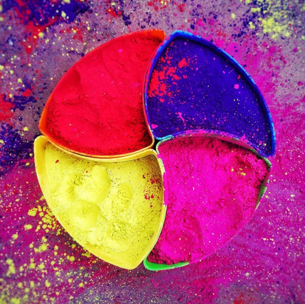 Color powder for the Festival of Color