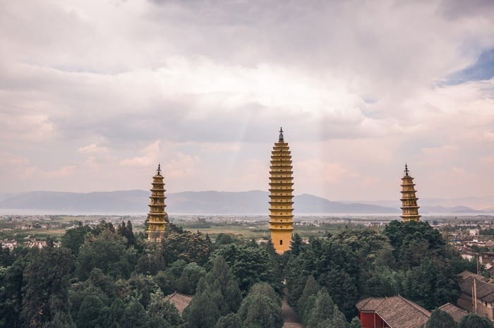 The Three Pagodas in China