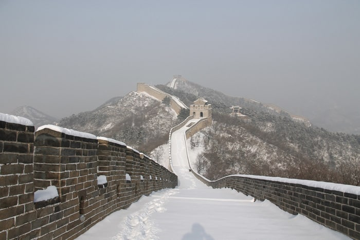 Badaling Great Wall in Snow