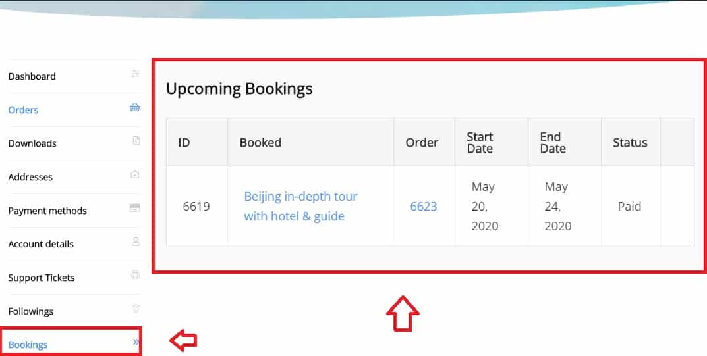 Booking List 1