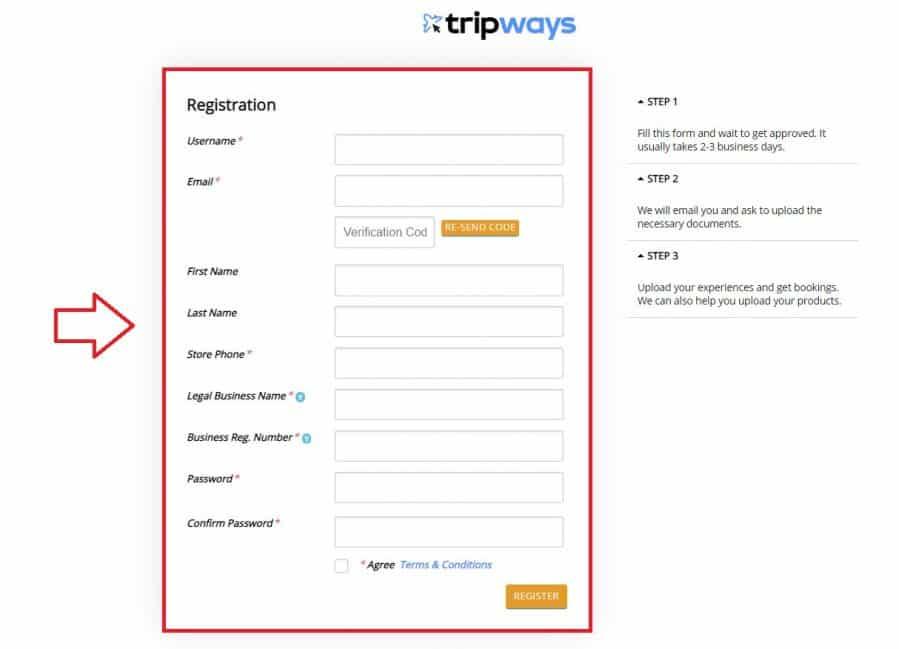 Vendor Registration 2