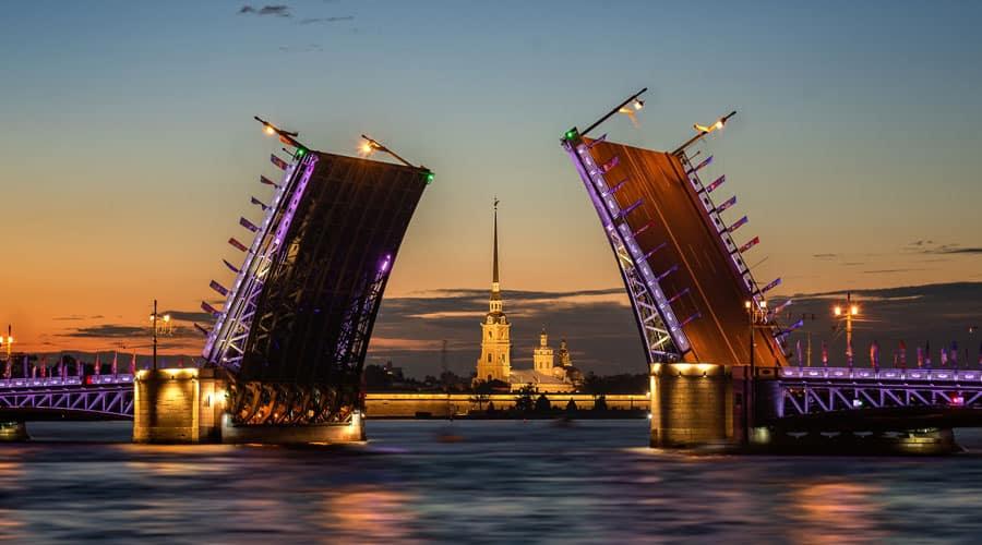 White Night Festival in St. Petersburg