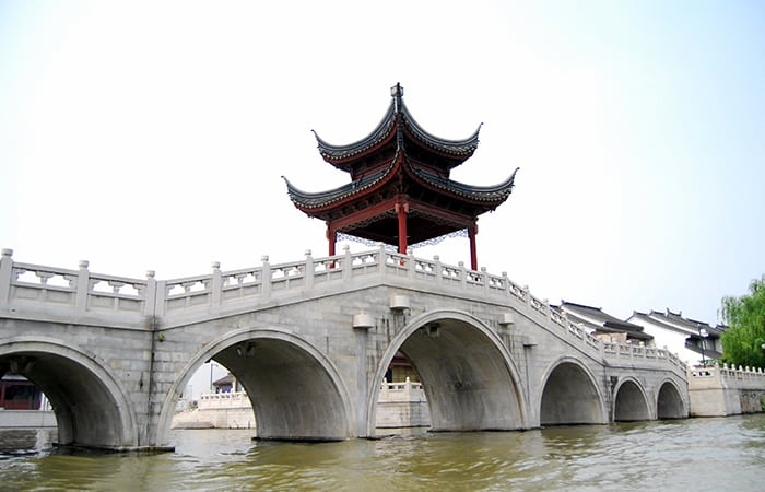 Fangsheng Bridge in Zhujiajiao Water Town