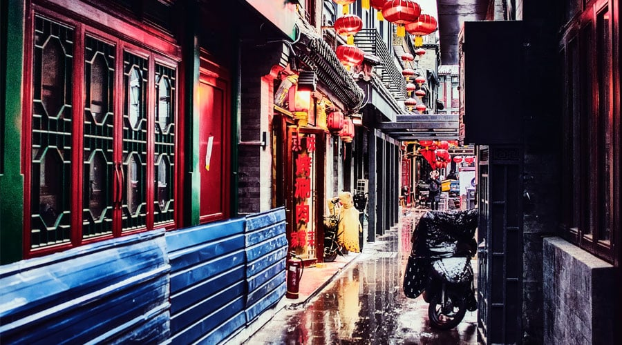 Wide and Narrow Alley in chengdu