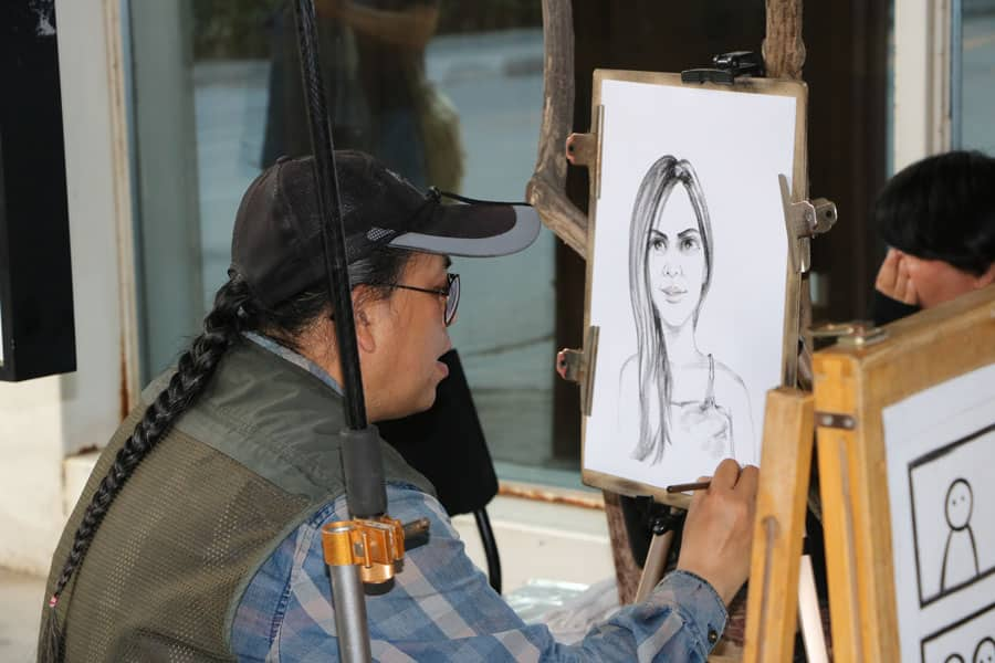 Painting in 798 Art Zone