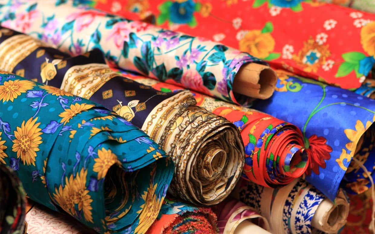 Rolls of Chinese silk
