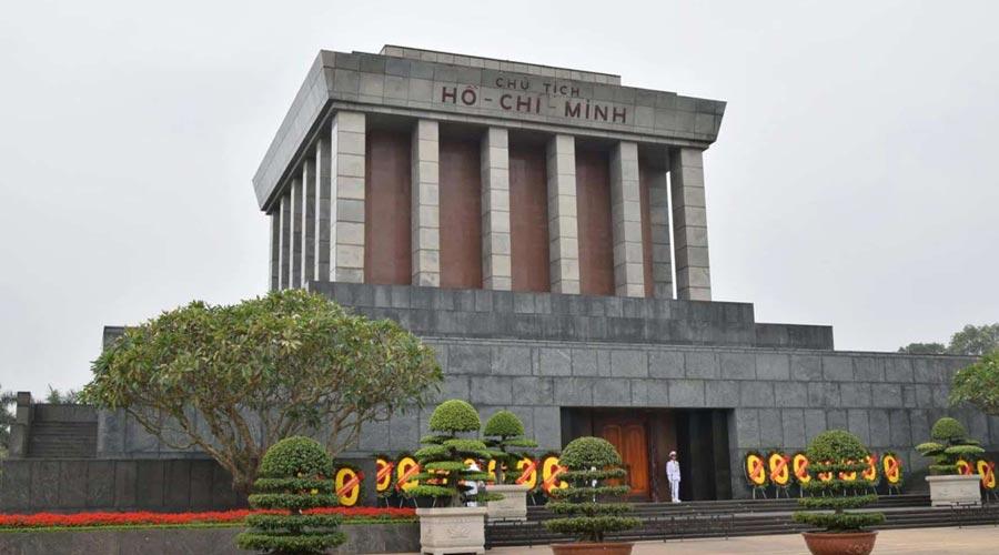 Ho Chi Minh Mausoleum Complex in Hanoi