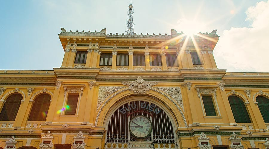 Colonial-Style Central Post Office in Ho Chi Minh