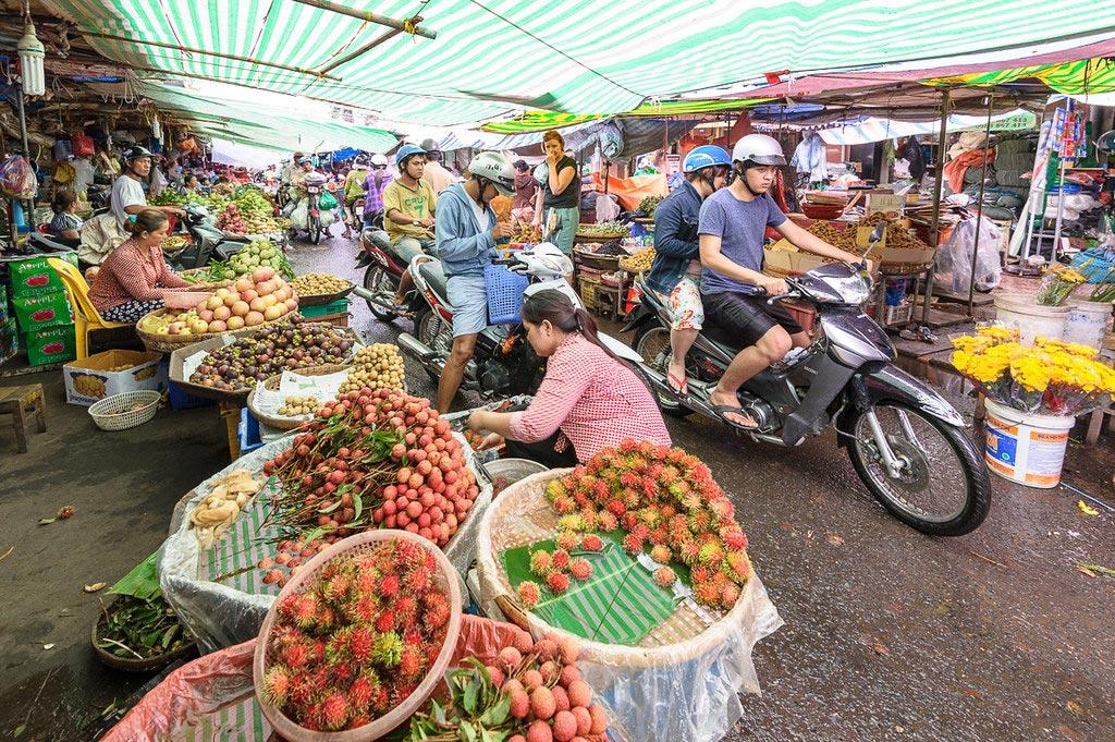 Chau Doc Market in Vietnam