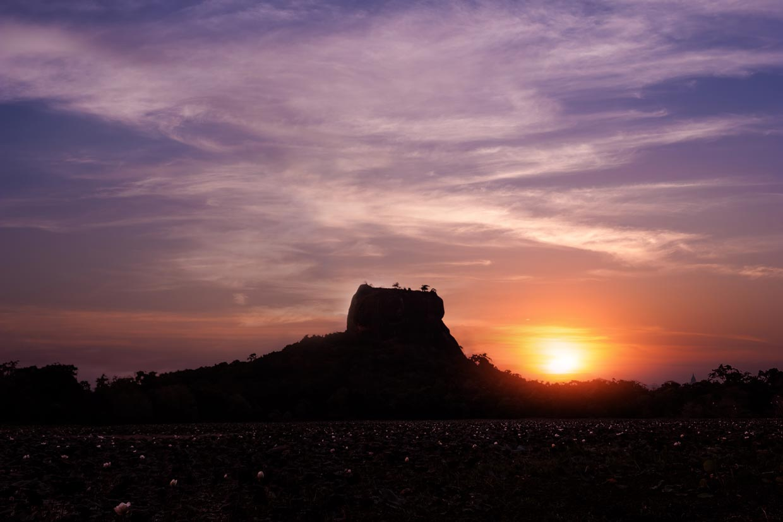 Sigiriya Fortress at Sunset
