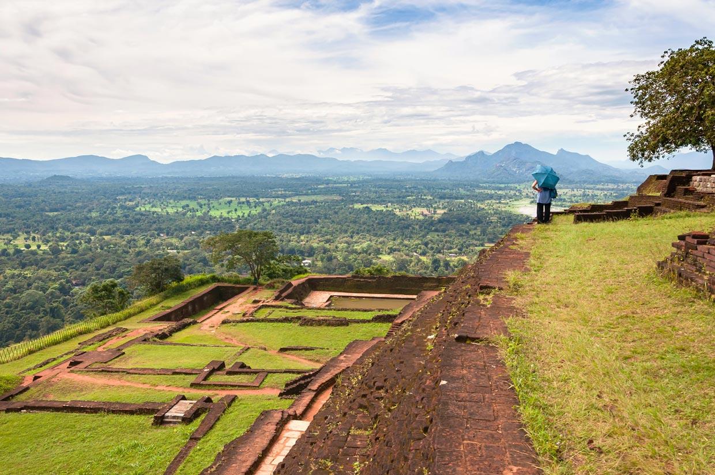 Sigiriya Fortress View in Sri Lanka