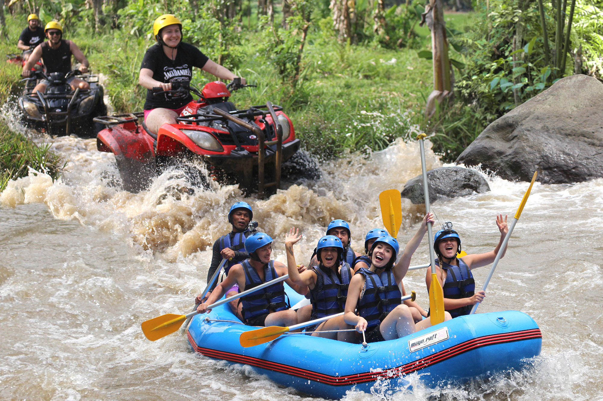 Bali Adventure Tour with Quad Bikes and Rafting 1
