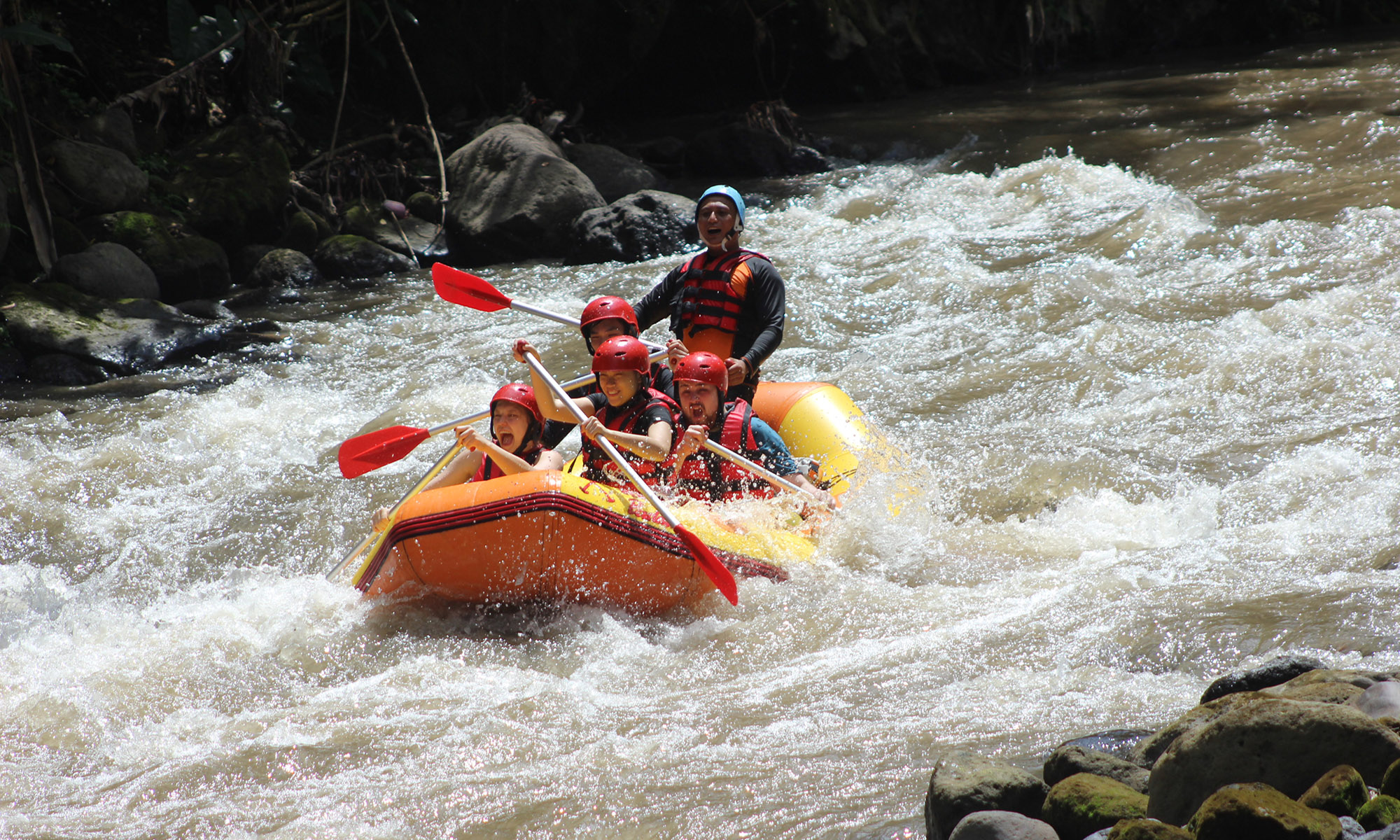 White Water Rafting Adventure Through Ayung River Ubud 2