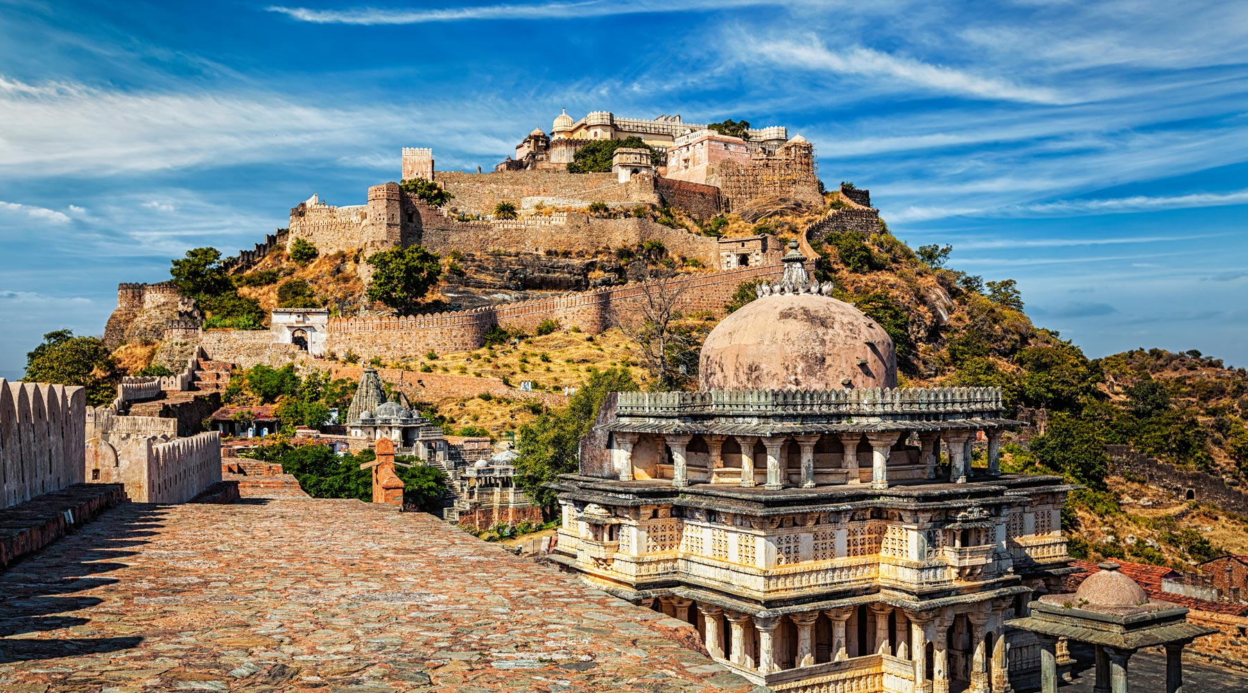 Kumbhalgarh fort in India