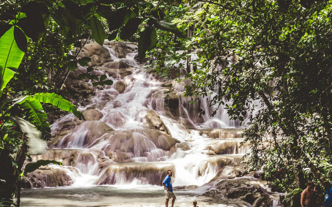 Ziplining over Dunn's River Falls & Park 1