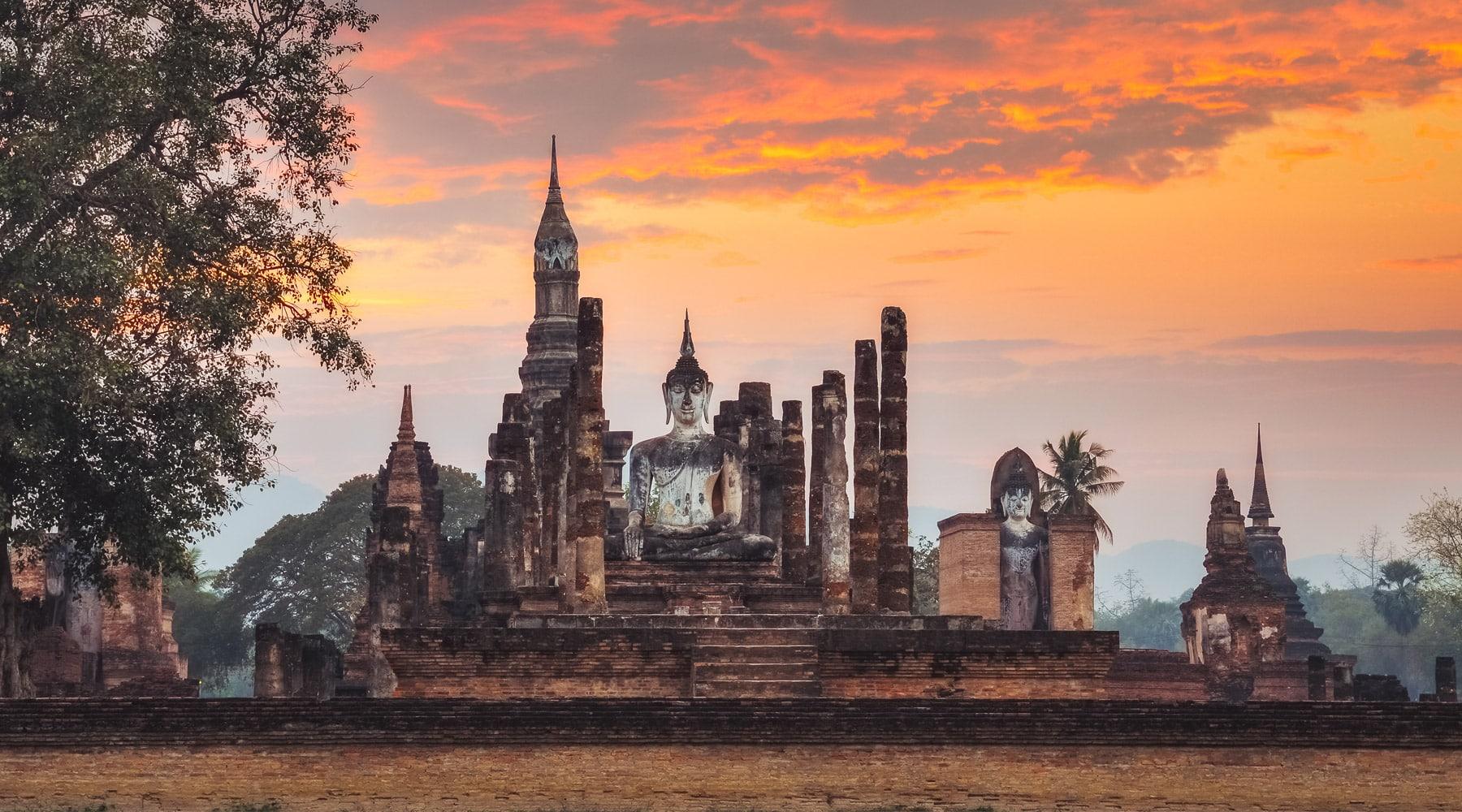 Historic Town of Sukhothai in Thailand
