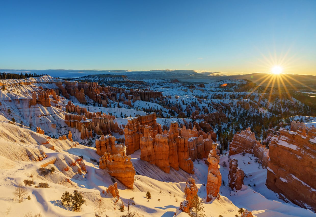 Sunrise in Bryce National Park
