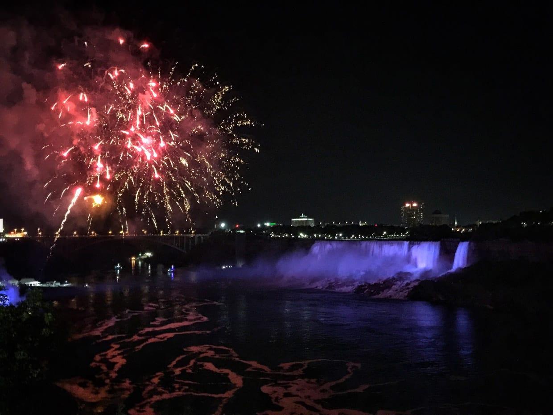 Niagara Night View & Fire Works