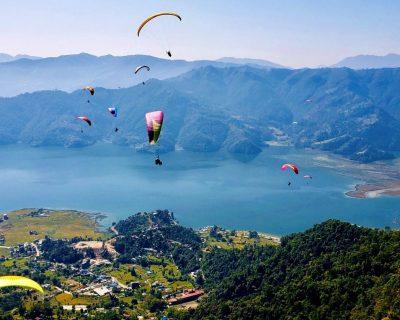 Lake Phewa in Pokhara Nepal