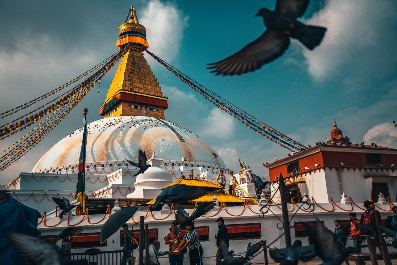 Boudanath Temple in Kathmandu Nepal