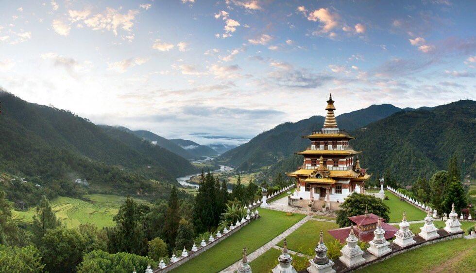 Khamsum Yuelley Namgyel Chorten in Punakha valley Bhutan