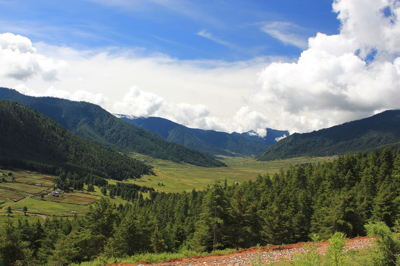 Phobjikha valley in Gangtey, Western Bhutan